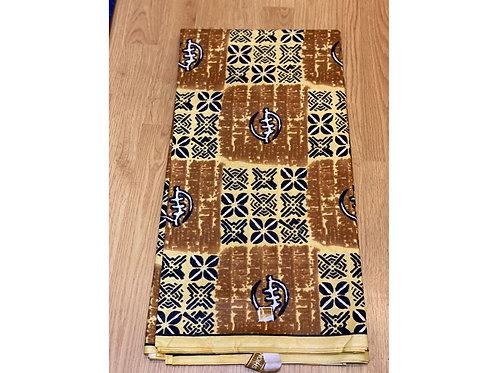 African Wax Print 6 yards/ Ankara fabric/ Brown Atum ankara/