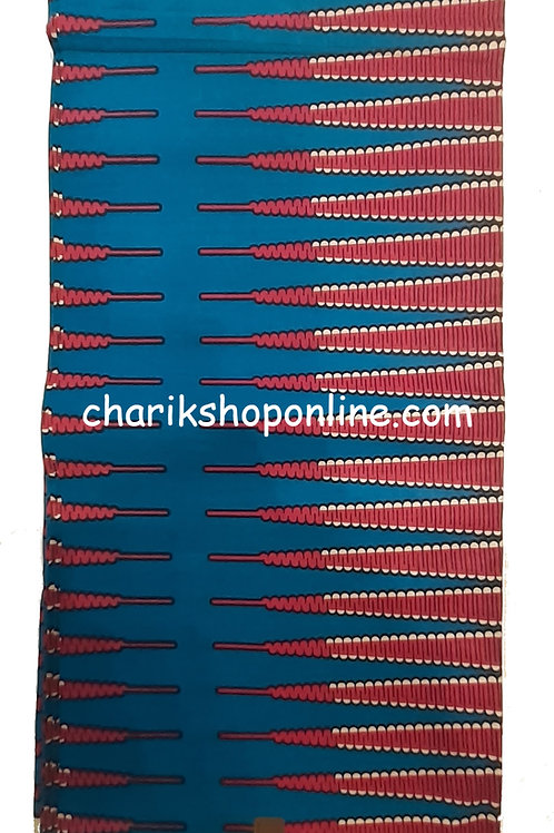 African Wax Print 6 yards/ Ankara fabric/ Blue Arrow ankara/