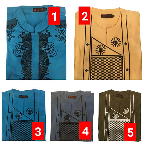 5 African embroidered dashiki men's shirt Size Medium Set #3