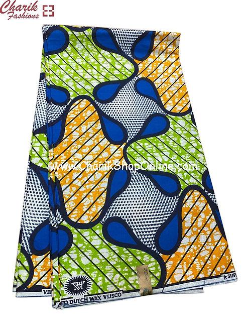 African Wax Print  6 yards/ Ankara fabric/ Vibrant Life ankara/