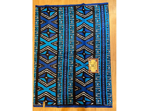African Wax Print 6 yards/ Ankara fabric/ Blue X ankara/