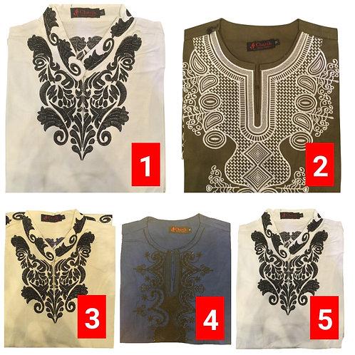 1 African embroidered dashiki men's shirt Size Medium Set #7