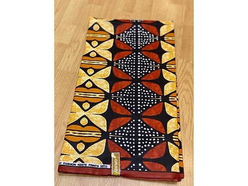 African Wax Print 6 yards/ Ankara fabric/ Black White Speck Mudcloth ankara/