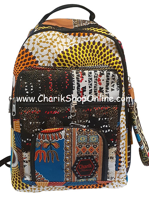 Ankara Print African Print Backpack Orange Yellow