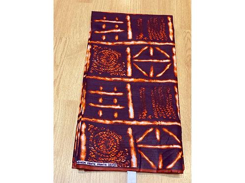 African Wax Print 6 yards/ Ankara fabric/ Burnt Tick Tock ankara/