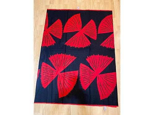 African Wax Print 6 yards/ Ankara fabric/ Magenta Blue Fan ankara/