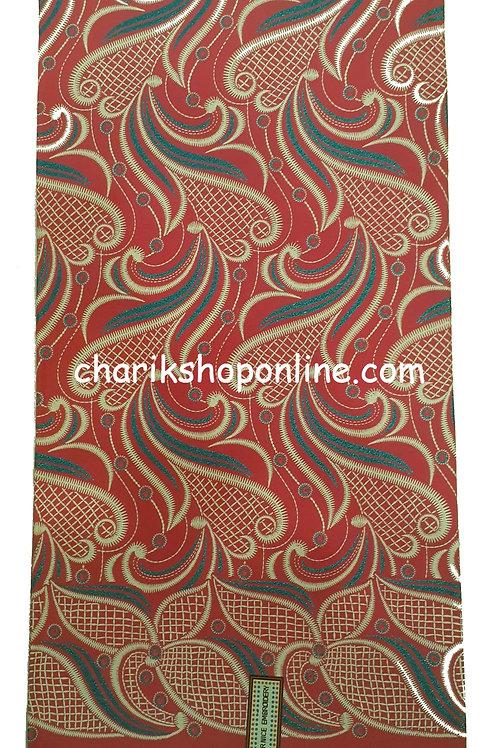 African Wax Print 6 yards/ Ankara fabric/ Raised Red Grey ankara/