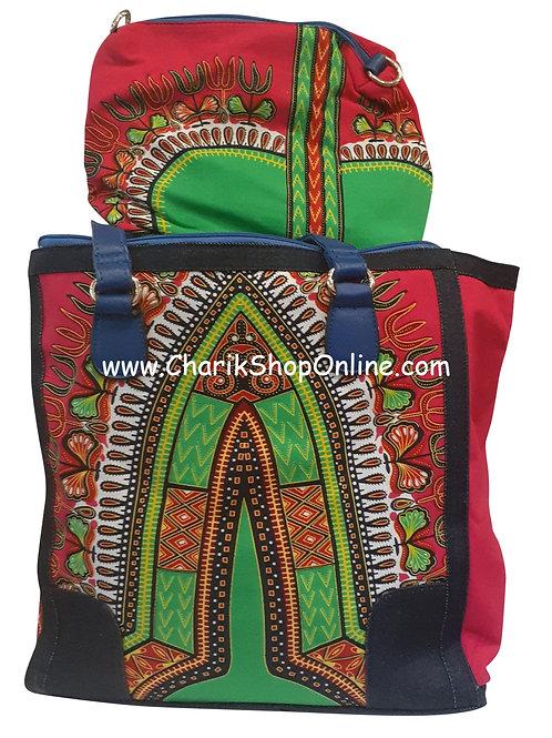 Ankara purse/ Dashiki purse/ Ankara bag/African print bag Pink