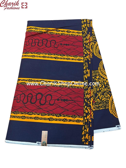 African Wax Print  6 yards/ Ankara fabric/ Kundalini ankara/