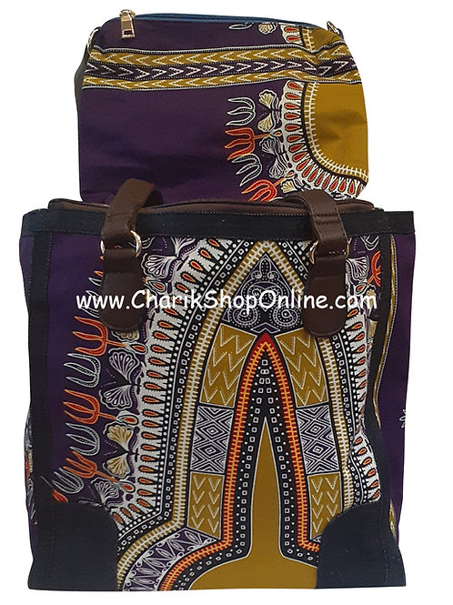 Ankara purse/ Dashiki purse/ Ankara bag/African print bag Purple