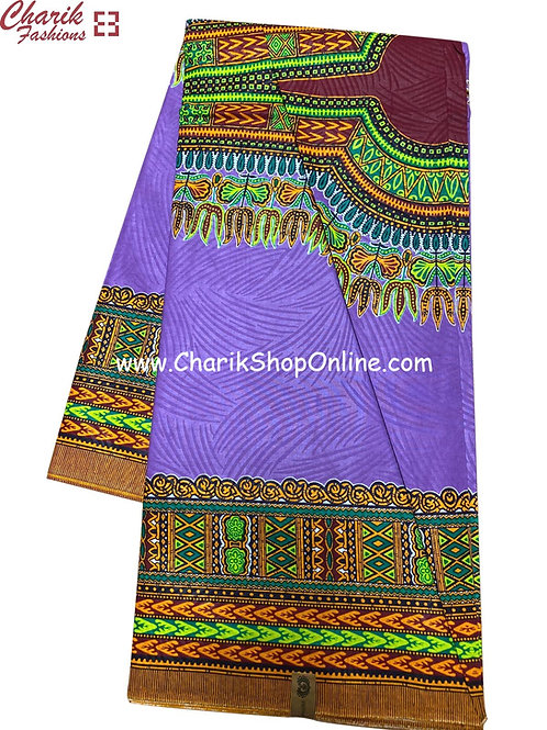 African Wax Print  6 yards/ Ankara fabric/ Purple Dashiki Angelina ankara/