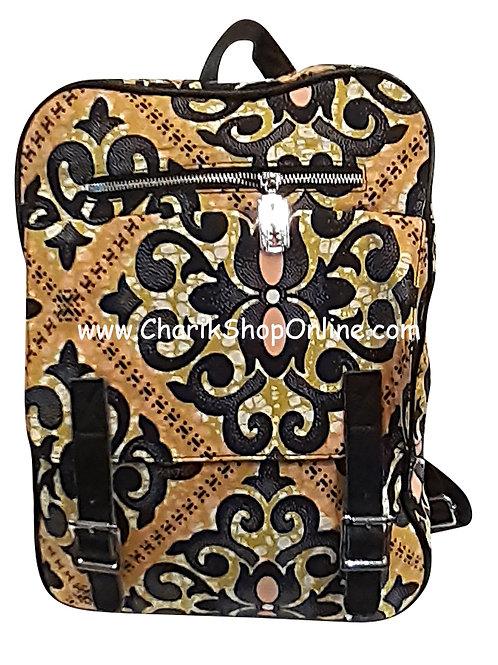 Ankara purse/ kente purse/ Ankara bag/African print bag Black Crest