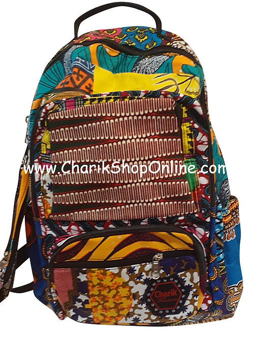 Ankara Print African Print Backpack Maroon Diamond