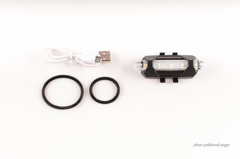 Фонарь велосипедный белый USB Li-фото 1