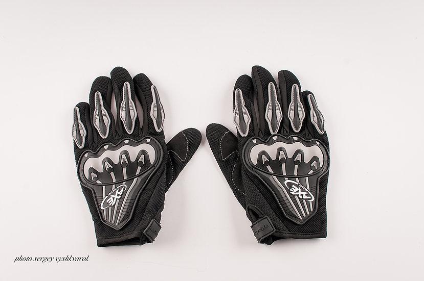 Велоперчатки AXE Racing черные фото 1