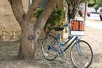 велосипед возле дерева фото