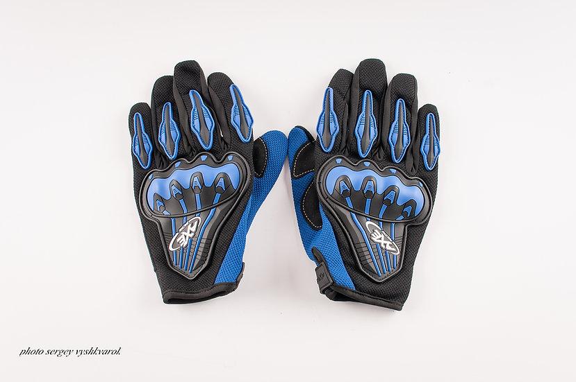 Велоперчатки AXE Racing синие фото 1