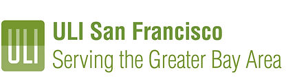 "Logo reads ""ULI"" on left in two shades of green, and ""ULI San Francisco"" in bold green on top, and ""Serving the Greater Bay Area"" below"
