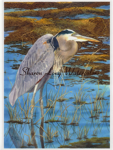 """A Cold Day In December"" Print 16x20 Blue Heron"