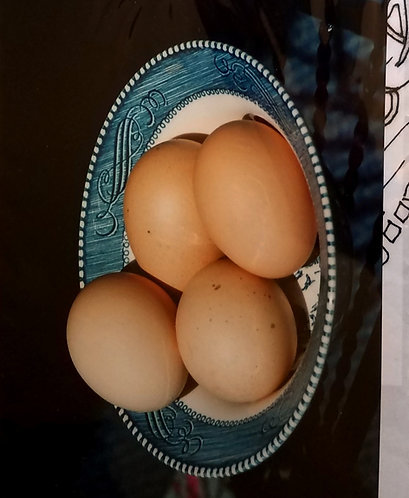 Farm Fresh Eggs In A Bowl Farmhouse Art Transfer