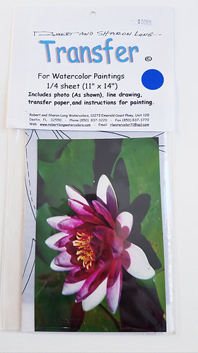 Pink Water Lilly Painting Instructions Kit
