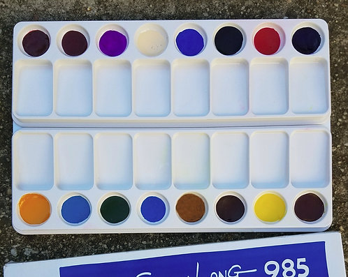 Magic Palette (Flesh & Floral) Watercolor Palette filled with 16 paints
