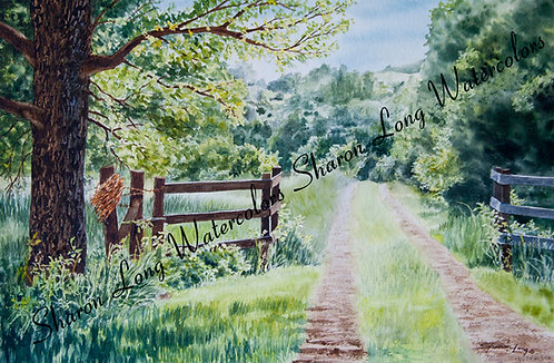 """A Road Less Traveled""Original Watercolor"