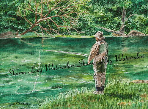 """Fishing on the Fly"" Print"