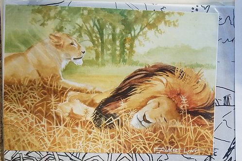 Lions Resting Painting Kit