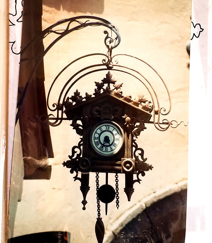Old Fashion Clock Antique Transfer for painting T38