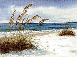 """""""Beach Scene I"""" Print 16x20"""