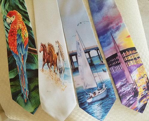 Tie Men's Wear with Art Theme