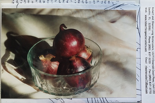 Onions Red in  cut Glass Bowl Painting Instruction Kit
