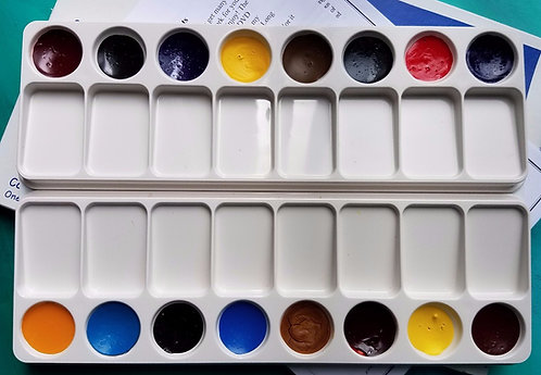Magic Palette (Regular) Watercolor Palette filled with 16 paints