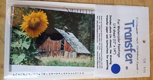 Sunflower and Barn Transfer Kit
