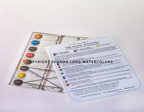 Magic Palette Guide Laminated Card