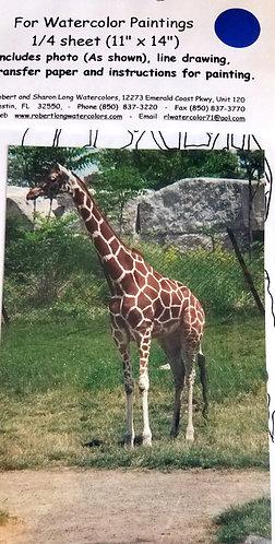 Giraffe Animal Transfer to Paint