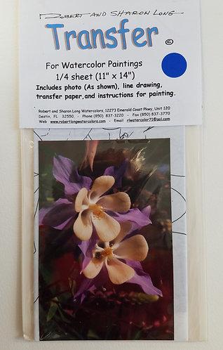 Columbine Flower Painting Instruction Kit # 14 Env 132