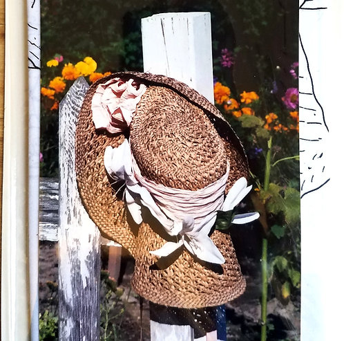 Straw Hat on a Post Farm house Painting Instructions