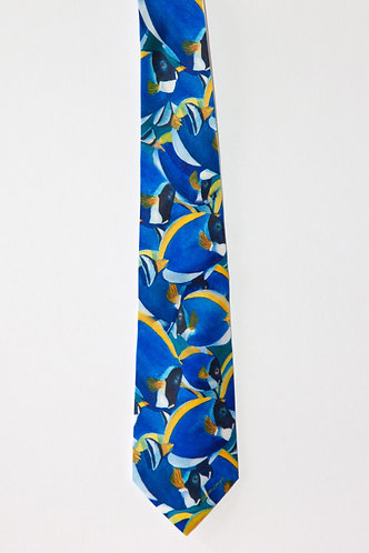 Men's Silk Tie Tropical Fish Theme