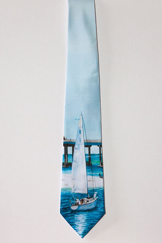 Sail boat Tie for Men Harbor View