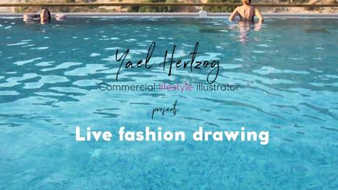 Live Fashion drawing |סרט תדמית