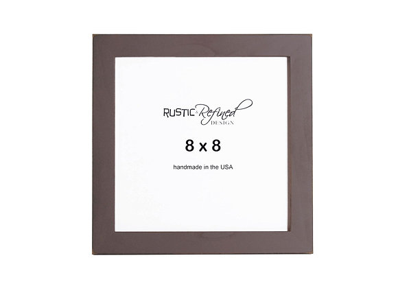 "8x8 1"" Gallery Picture Frame - Chocolate Brown"