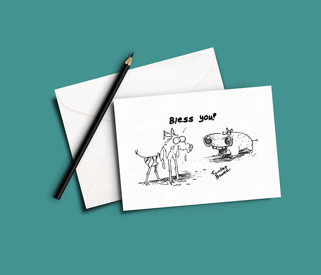 SNOTT Funny Greeting Card