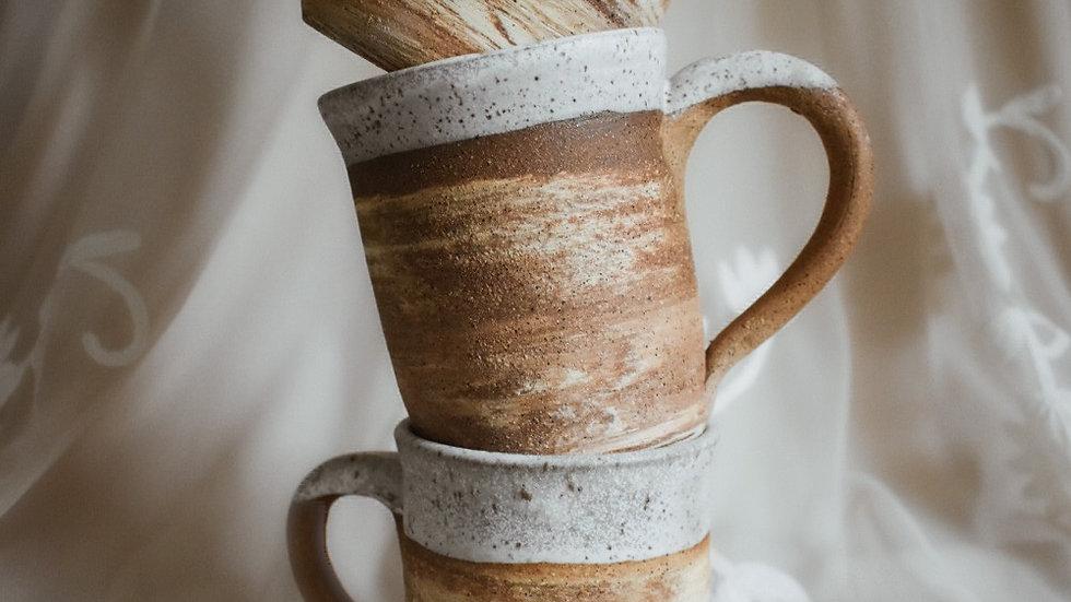 Swirl Mug in white