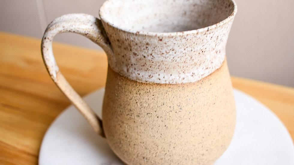 White Pebble Raw Clay Mug