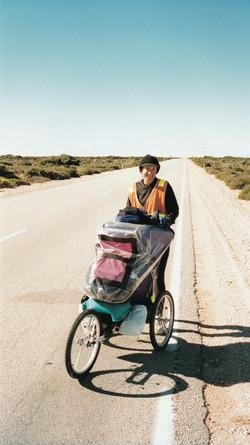 Baby Jogger loaded, long road ahead!