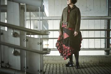 Herringbone Jacket + Tartan Check Skirt