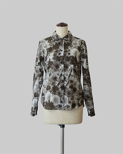 Bloom Print Shirt Black