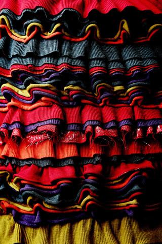 Frilled Skirt Multi Color
